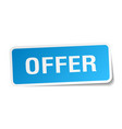 offer square sticker on white vector image vector image