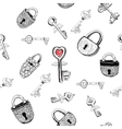 Padlocks and keys vector image vector image