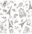 paris seamless pattern eiffel tower fashion vector image