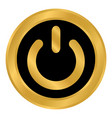 power symbol button vector image