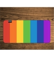 rainbow yoga mat on wood texture floor vector image