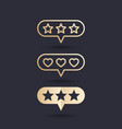 rating icons vector image