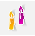 realistic design element christmas candle vector image