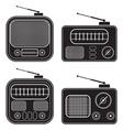 Retro radio receivers vector image