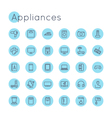 Round Appliances Icons vector image