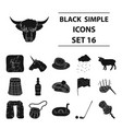 scotland country set icons in black style big vector image vector image