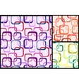 seamless decorative modern squares pattern vector image