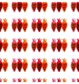 Seamless pattern of colored beet roots painted by vector image vector image