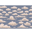 seamless with vintage clouds vector image