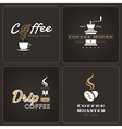 Set of drip coffee shop badges and labels vector image