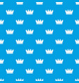 silhouette crown pattern seamless blue vector image vector image