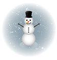 Snowman alone in winter vector image vector image