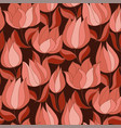 soft pastel pink abstract tulip seamless pattern vector image