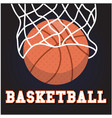 sport basketball hoop background image vector image