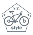 sv bike style logo simple style vector image