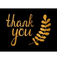 Thank you golden inscription vector image vector image