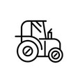 tractor rural agriculture thick line vector image vector image