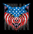 usa flag cat head eps with editable layer vector image vector image