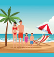 vacation on the beach vector image vector image