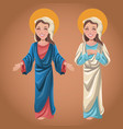 virgin mary spiritual catholic image vector image vector image