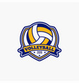 volleyball club badge logo-6 vector image