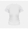 white female tshirt mockup realistic style vector image vector image