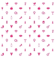 Love Symbols Seamless Pattern Background vector image