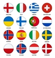 Set of round flags buttons - 2 vector image