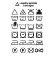 Laundry symbols care signs vector image