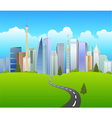 Traveling background vector image