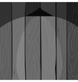 wooden fence with a lamp vector image