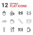 12 cafe icons vector image vector image