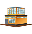 3d design for building in yellow color vector image vector image