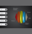 3d infographic template with two cones and three vector image vector image