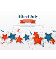 4th of july - independence day of america vector image vector image