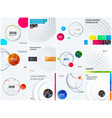 abstract set design of colourful elements vector image vector image