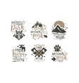 alaska and taiga national park labels set vector image