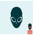 Alien icon isolated vector image vector image
