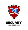 alphabetical logo of security compnay and vector image