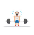 athlete doing deadlift vector image