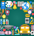 Back to school background paper cut cartoon