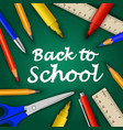 back to school concept background realistic style vector image