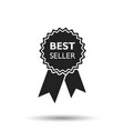 best seller ribbon icon medal in flat style on vector image vector image