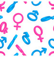 bright colorful men and women gender signs on vector image vector image