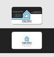 business card template architecture blue color