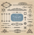 calligraphic design and page decoration elements vector image vector image