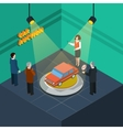 Car Auction Isometric vector image
