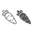 carrot line and glyph icon vitamin and food vector image