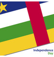 central african republic independence day vector image vector image