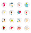 charity set flat icons vector image vector image